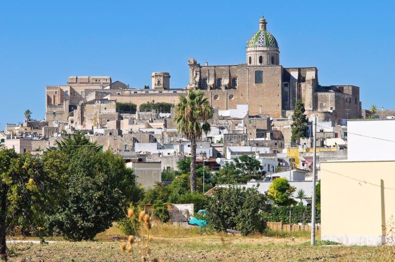 Vista panorámica de Oria. Puglia. Italia. foto de archivo libre de regalías