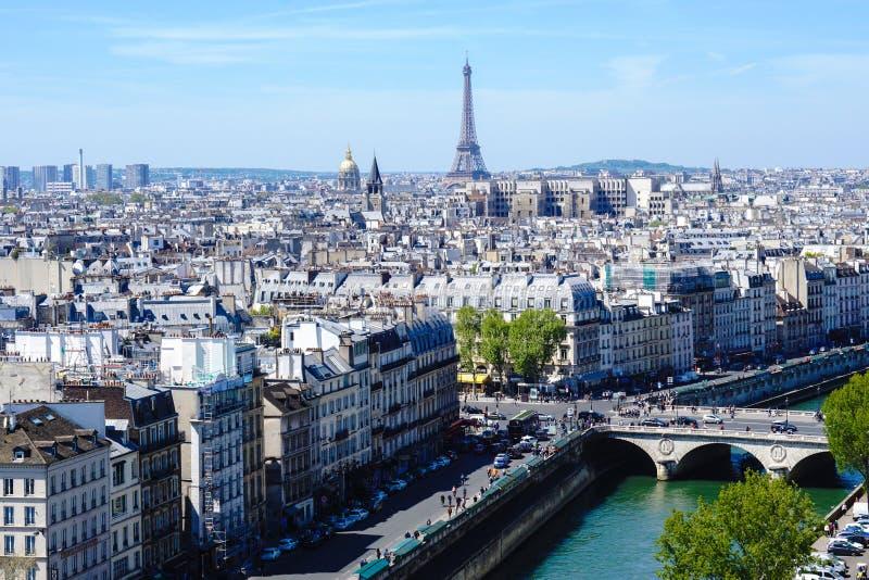 Vista panorámica de París fotografía de archivo