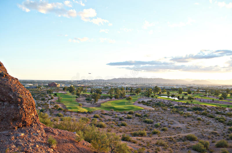 Vista panorámica de Phoenix, AZ fotos de archivo
