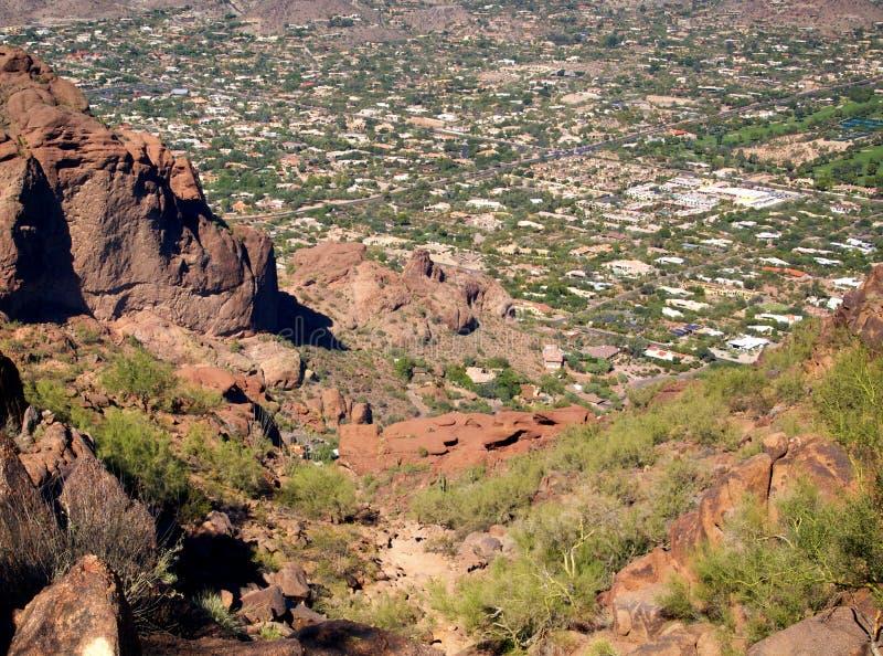 Vista panorámica de Phoenix, AZ foto de archivo
