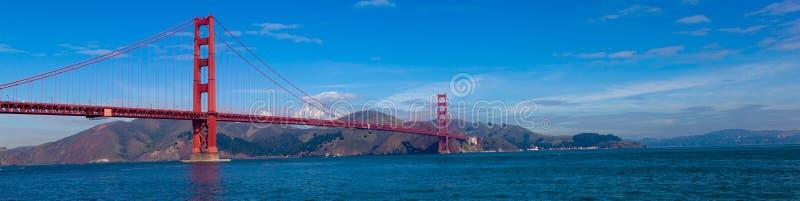 Vista panorámica de puente Golden Gate en San Francisco, California fotos de archivo