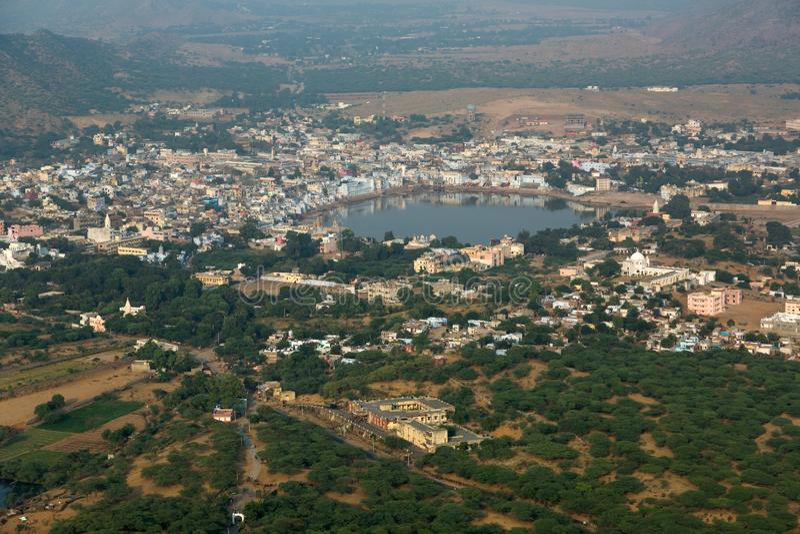 Vista panorámica de Pushkar fotos de archivo libres de regalías