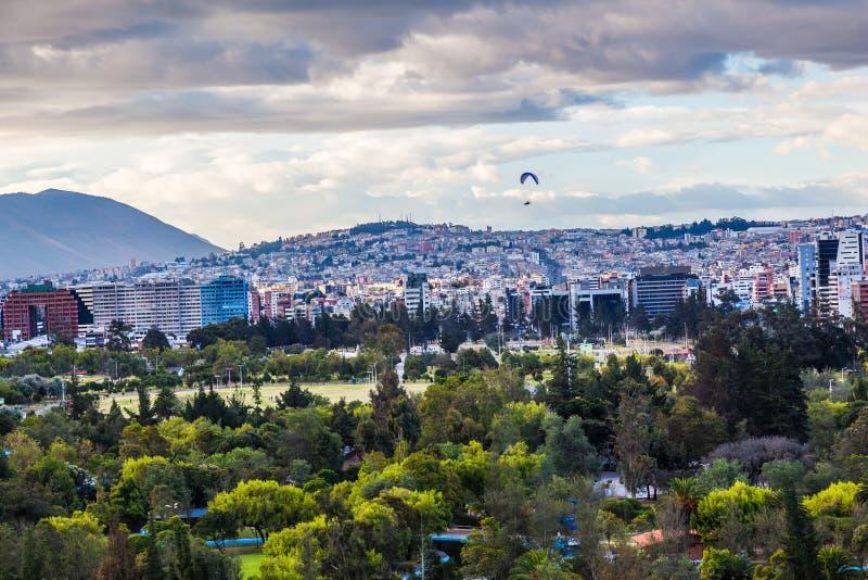 Vista panorámica de Quito fotos de archivo libres de regalías