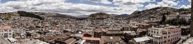 Vista panorámica de Quito, Ecuador fotos de archivo