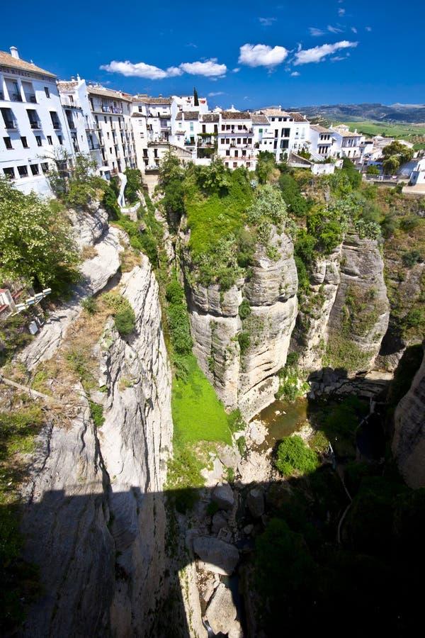 Vista panorámica de Ronda, Andaluc3ia, España imagen de archivo