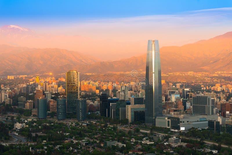 Vista panorámica de Santiago de Chile foto de archivo libre de regalías