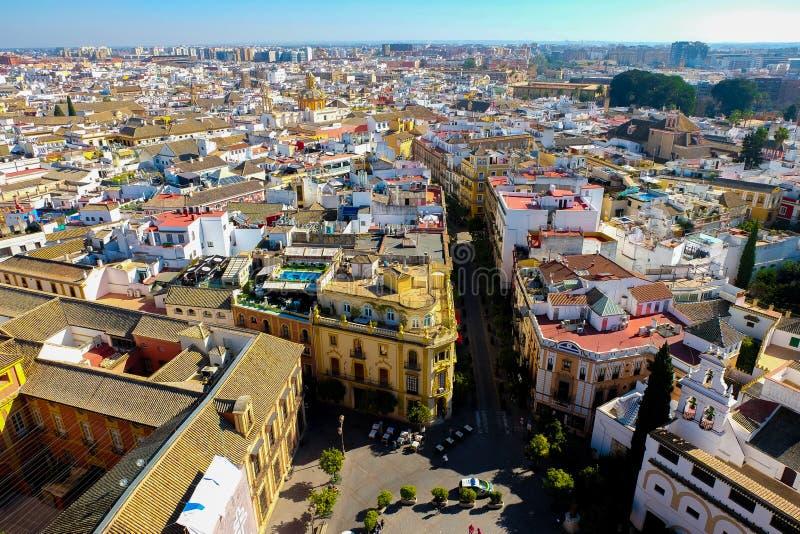 Vista panorámica de Sevilla imágenes de archivo libres de regalías