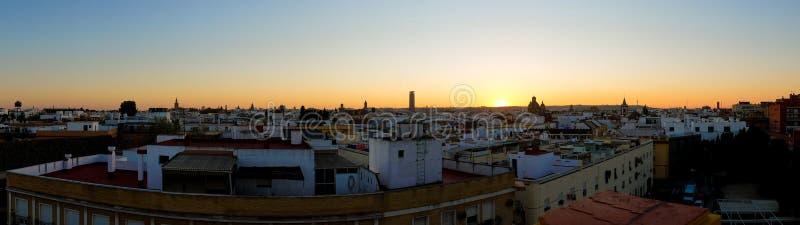 Vista panorámica de Sevilla foto de archivo libre de regalías