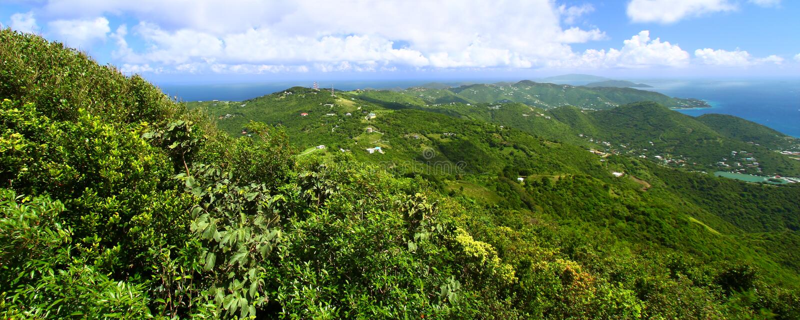 Vista panorámica de Tortola fotografía de archivo