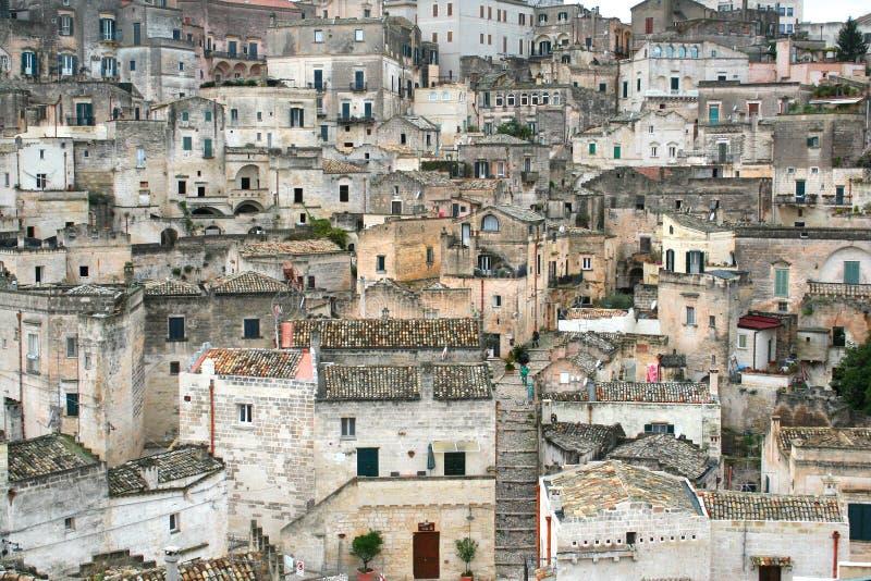 Vista panorámica de una ciudad italiana histórica fotos de archivo