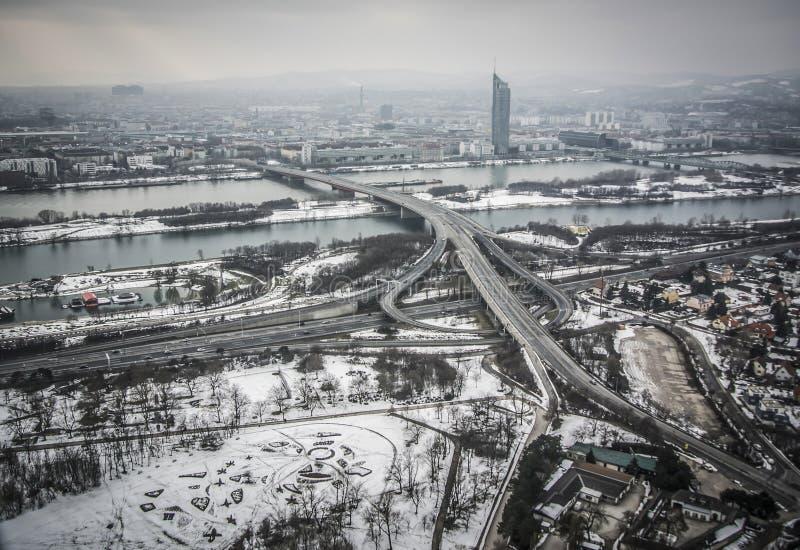 Vista panorámica de Viena foto de archivo