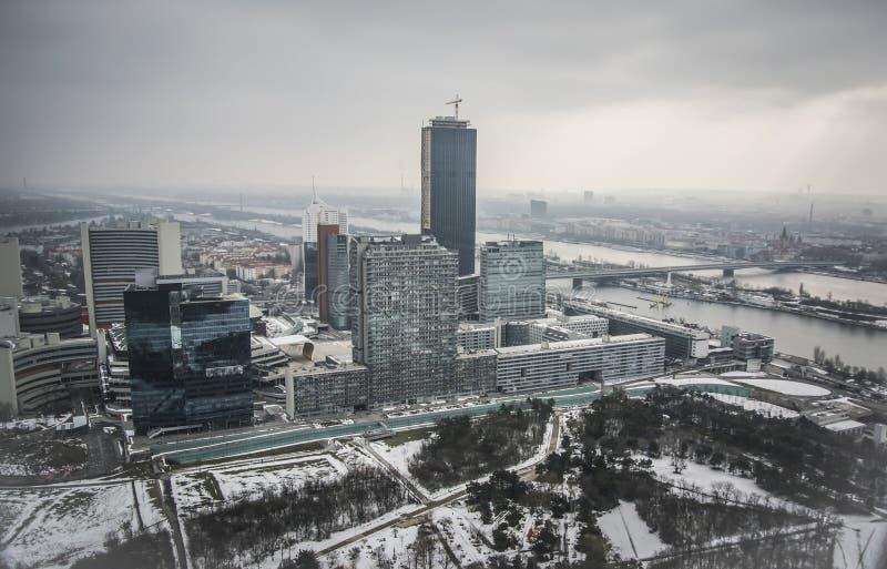 Vista panorámica de Viena fotografía de archivo libre de regalías