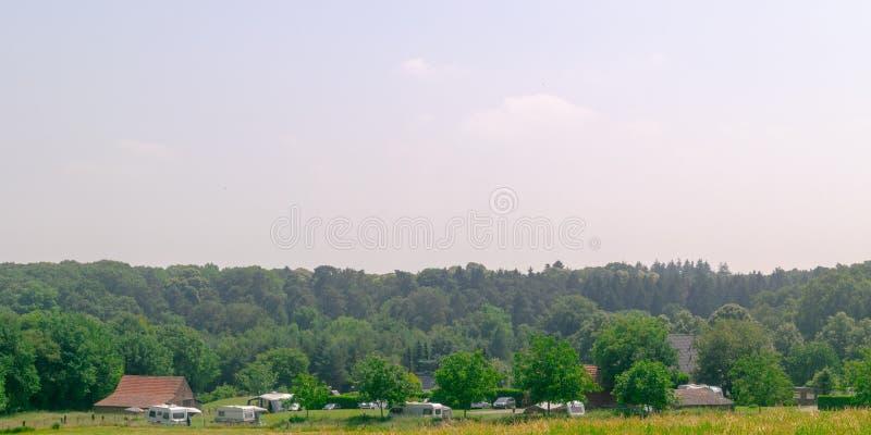 Vista panorámica del camping holandés fotos de archivo libres de regalías