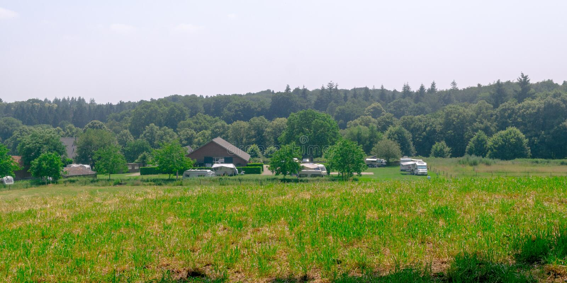Vista panorámica del camping holandés foto de archivo libre de regalías