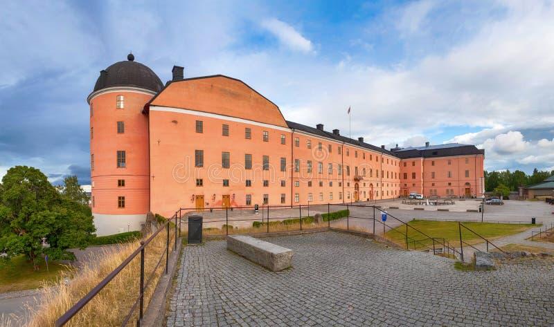 Vista panorámica del castillo de Uppsala, Suecia foto de archivo
