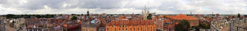 Vista panorámica del centro de ciudad de York fotografía de archivo libre de regalías