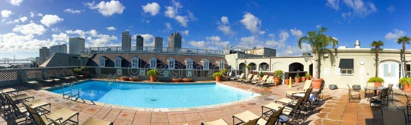 Vista panorámica del horizonte de la ciudad del tejado del edificio Nuevo Orlean foto de archivo libre de regalías
