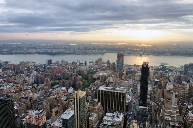 Vista panorámica del horizonte de Manhattan imagen de archivo libre de regalías