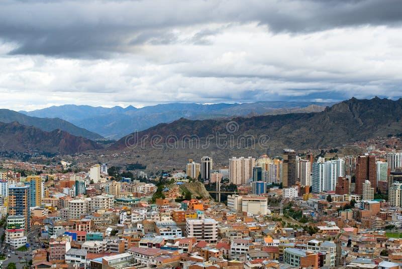 Vista panorámica del La Paz, Bolivia imagen de archivo libre de regalías