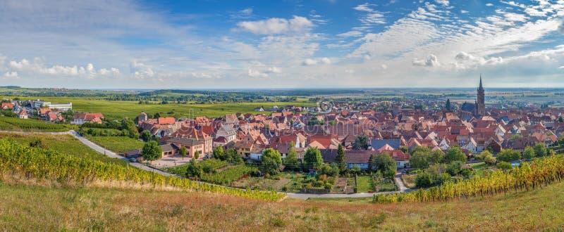 Vista panorámica del la Ville, Alsacia, Francia de Dambach imagen de archivo