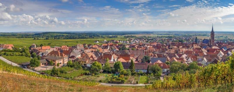 Vista panorámica del la Ville, Alsacia, Francia de Dambach fotografía de archivo