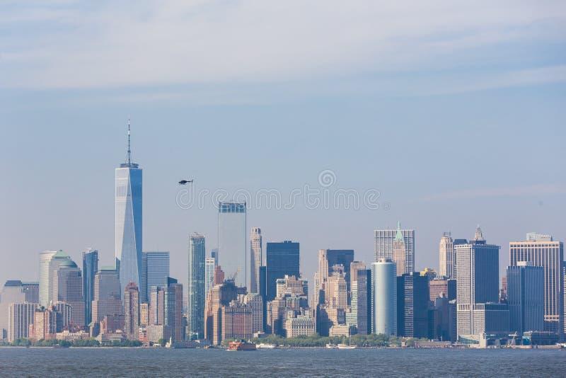 Vista panorámica del Lower Manhattan, New York City, los E.E.U.U. foto de archivo