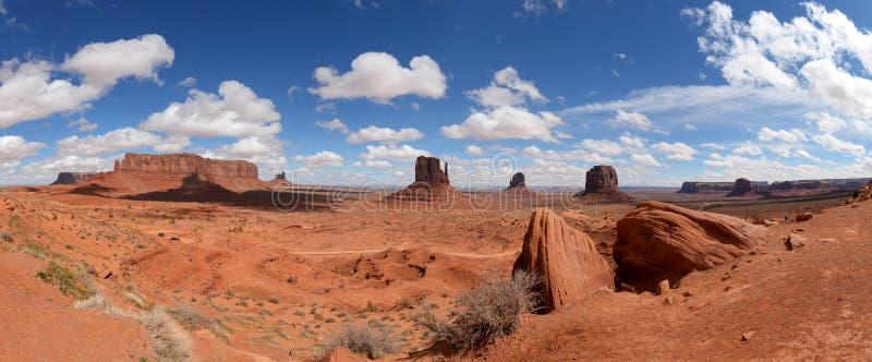 Vista panorámica del parque nacional del valle del monumento imagen de archivo