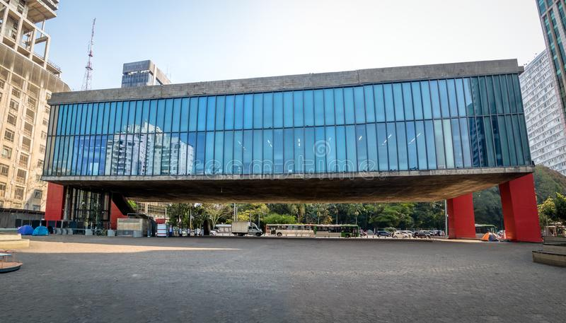 Vista Panorámica Del Sao Paulo Museum De MASP Del Arte - Sao Paulo ...