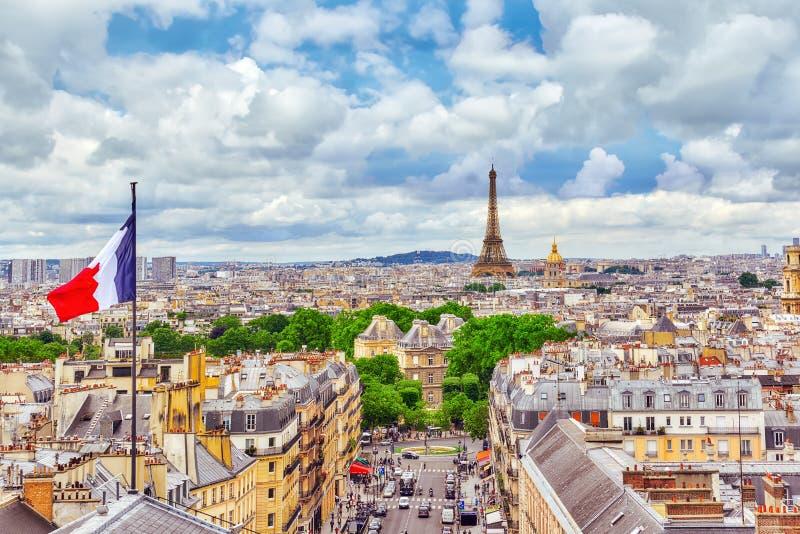 Vista panorámica hermosa de París foto de archivo