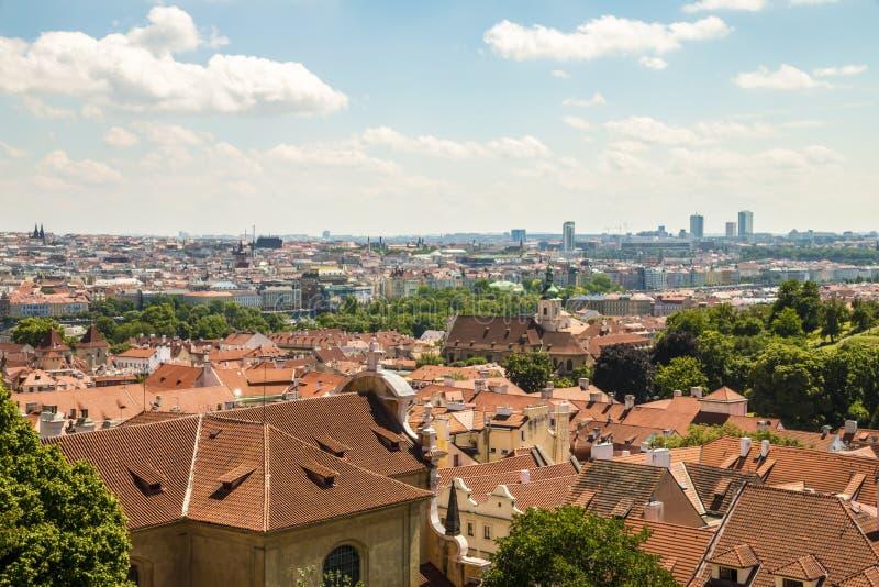 Vista panorámica a Praga foto de archivo libre de regalías