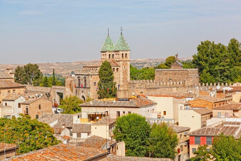 Vista panorámica a Toledo foto de archivo