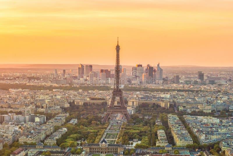 Vista panorâmica aérea da skyline de Paris, França foto de stock