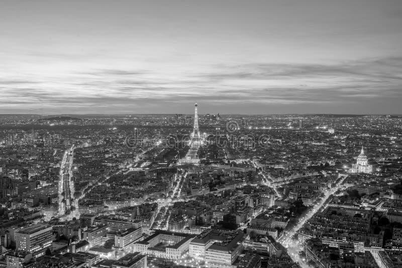 Vista panorâmica aérea da skyline de Paris, França imagens de stock