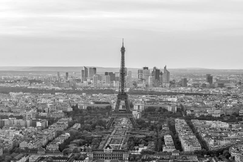 Vista panorâmica aérea da skyline de Paris, França fotos de stock