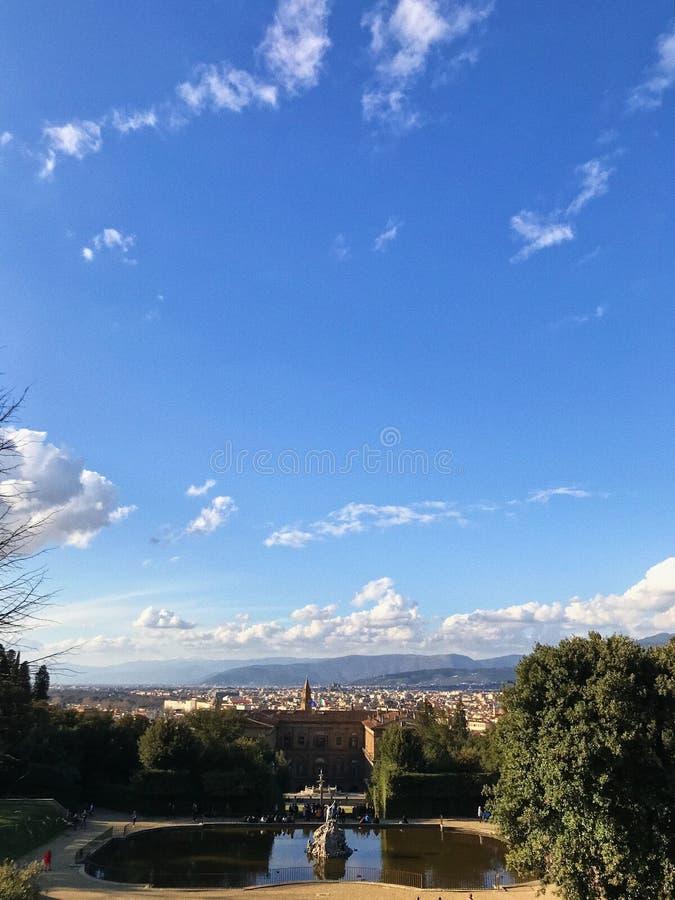Vista panorâmica agradável em Roma imagens de stock