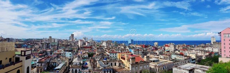Vista panorâmica bonita de Havana imagens de stock