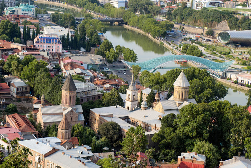 Download Vista Panorâmica Bonita De Tbilisi Imagem de Stock - Imagem de outdoor, país: 80101907