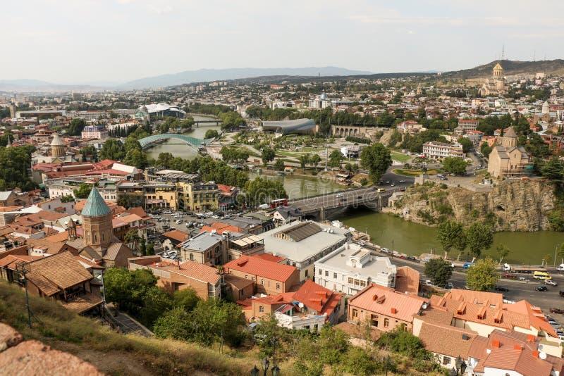 Download Vista Panorâmica Bonita De Tbilisi Foto de Stock - Imagem de antigo, panorama: 80102236