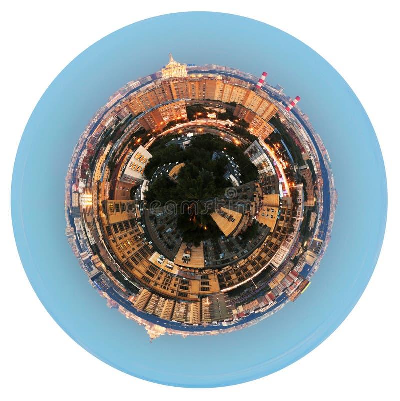 Vista panorâmica da área residencial na noite imagem de stock