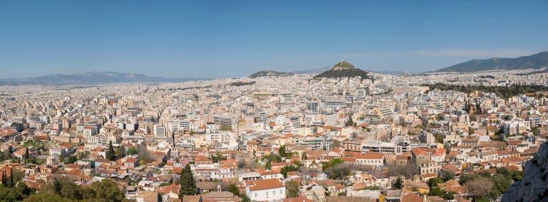 Vista panorâmica da cidade de Atenas fotos de stock