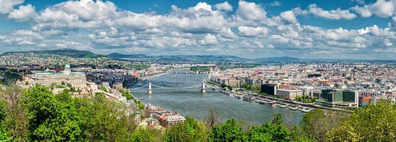 Vista panorâmica da cidade de Budapest foto de stock royalty free