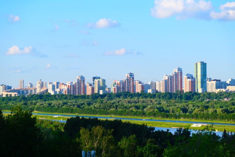 Vista panorâmica da cidade de Moscou do monte fotos de stock