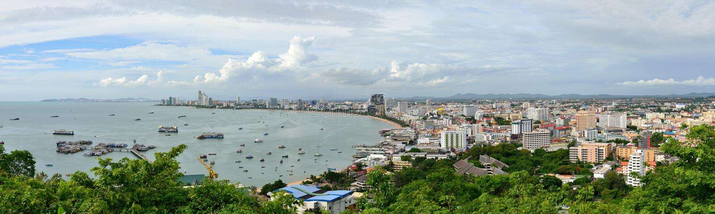 Vista panorâmica da cidade de Pattaya imagens de stock