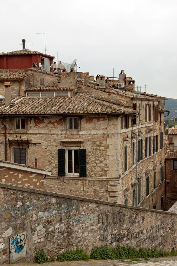 Vista panorâmica da cidade de Perugia imagem de stock royalty free