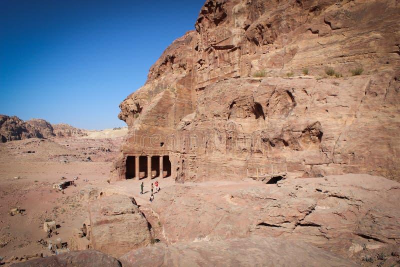 Vista panorâmica da cidade histórica de PETRA, Jordânia foto de stock