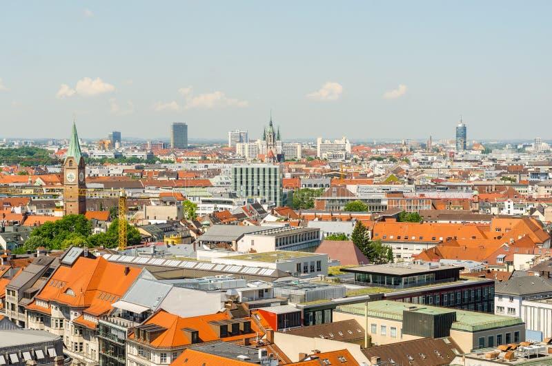 Vista panorâmica da cidade Munich em Baviera, Alemanha imagens de stock royalty free