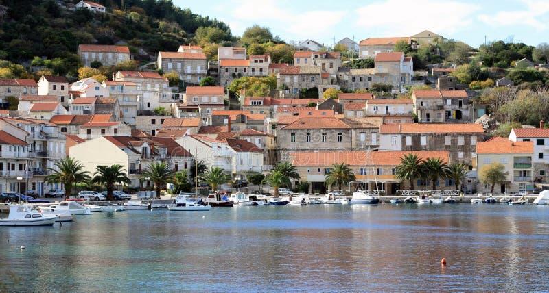 Vista panorâmica da Croácia de Racisce fotografia de stock