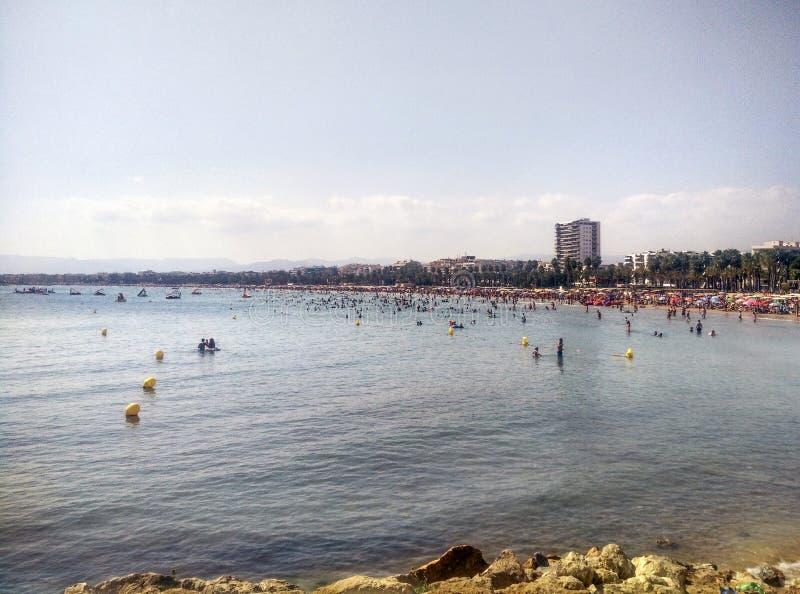 Vista panorâmica da Espanha de Salou fotografia de stock