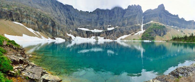Vista panorâmica da geleira do lago iceberg no parque nacional de geleira imagem de stock royalty free