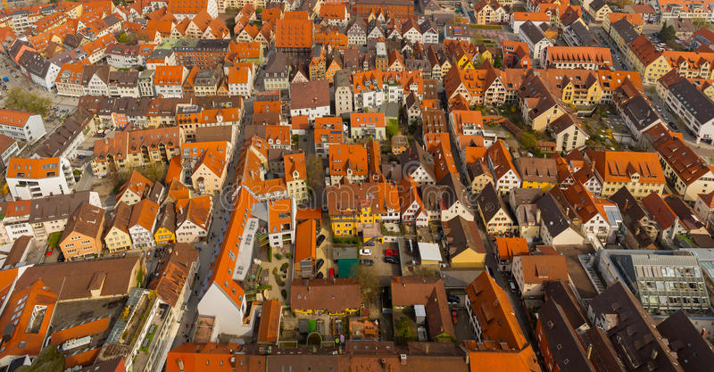Vista panorâmica da igreja de Ulm Munster fotografia de stock royalty free